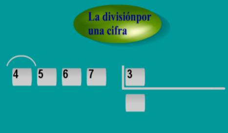división con una cifra en el divisor