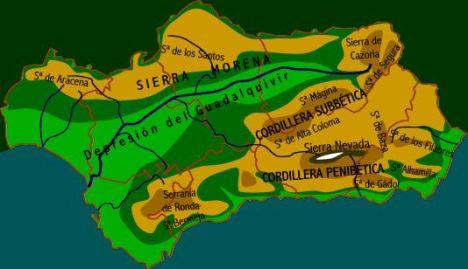 Geografía andaluza