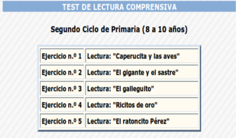 test comprensión lectora